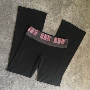 Lululemon Yoga Leggings Pink Band